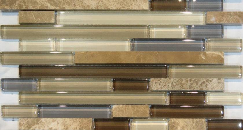 Sample Marble Stone Brown Beige Cream Linear Glass
