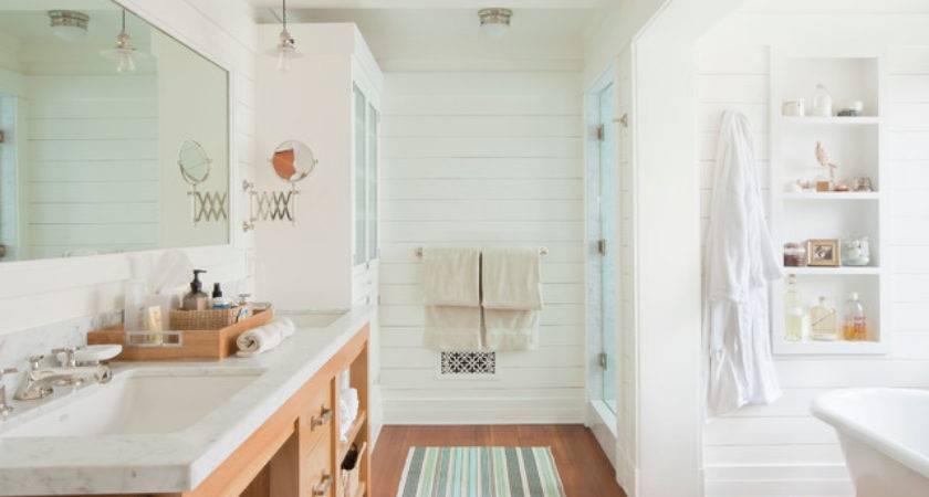 Santa Monica Beach House Style Bathroom Los