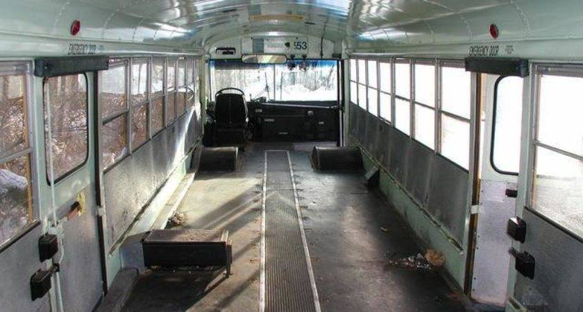 School Bus Conversion Old Yellow