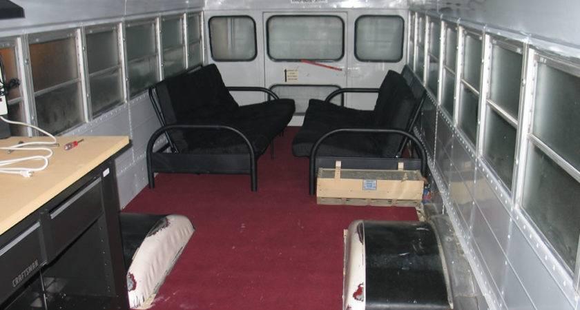 School Bus Interior Conversion Pixshark