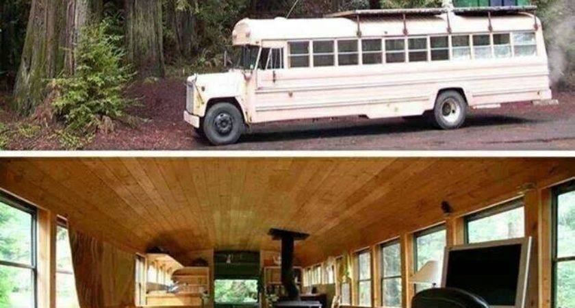 School Bus Into Cozy Cabin Wheels Diy Home
