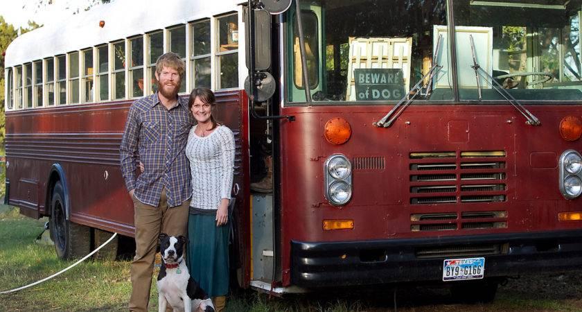 School Bus Living Cozy Confines Square Feet
