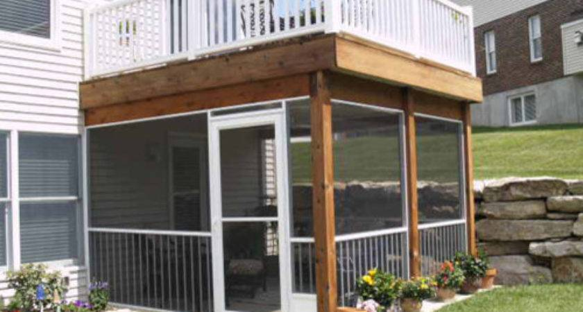 Screen Rooms Features Traditional Deck Louis
