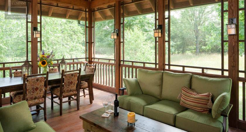 Screened Porch Beautifully Matches Home