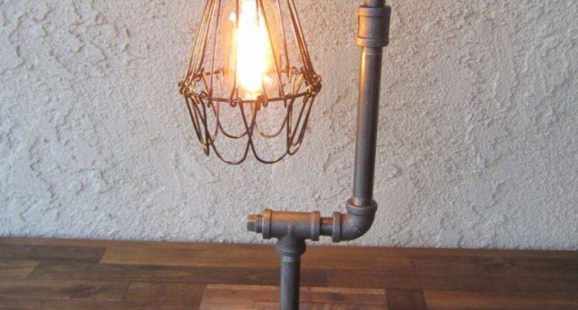 Sculptural Industrial Diy Pipe Lamp Design Ideas Able
