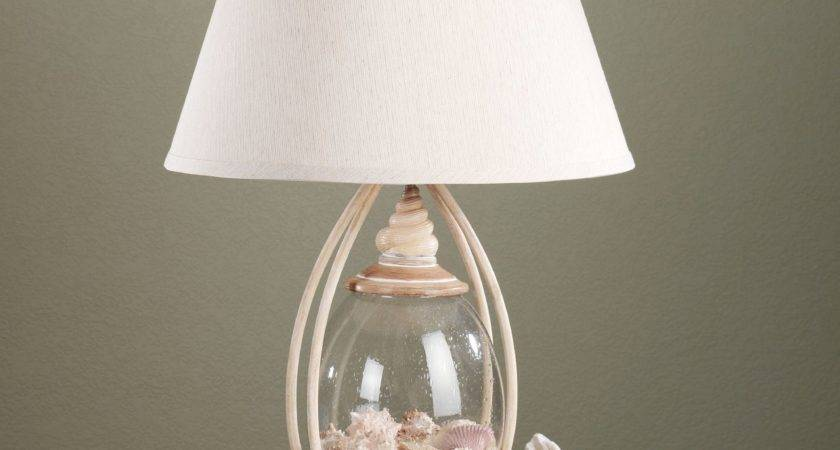 Sea Treasures Fillable Glass Table Lamp