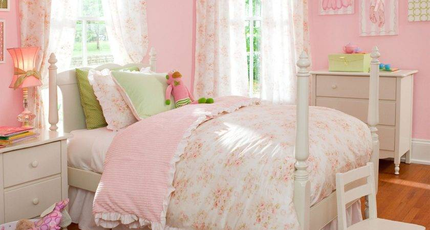 Shabby Chenille Kids Bedding Little Girl