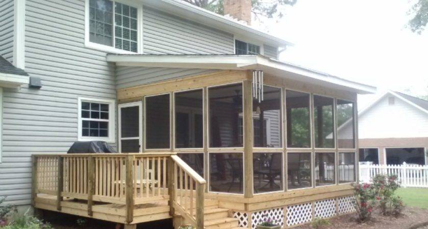 Shed Roof Screened Porch