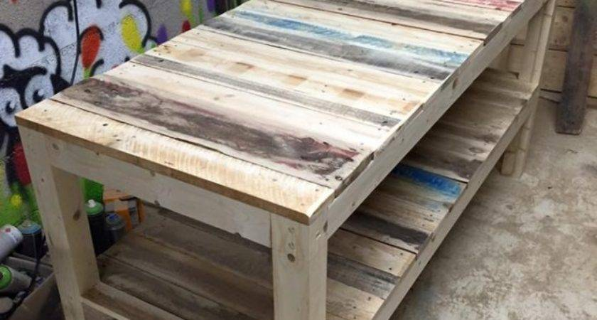 Shipping Pallet Upcycled Bench Ideas Recycled