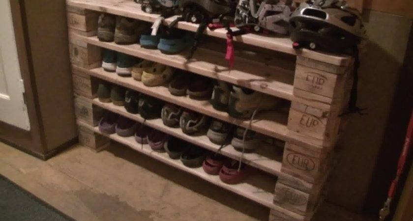 Shoe Rack Pallets Youtube