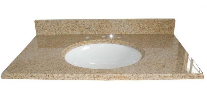 Shop Allen Roth Desert Gold Granite Undermount Single