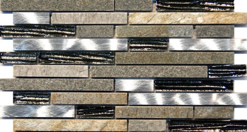 Silver Glass Stainless Steel Natural Stone Blend