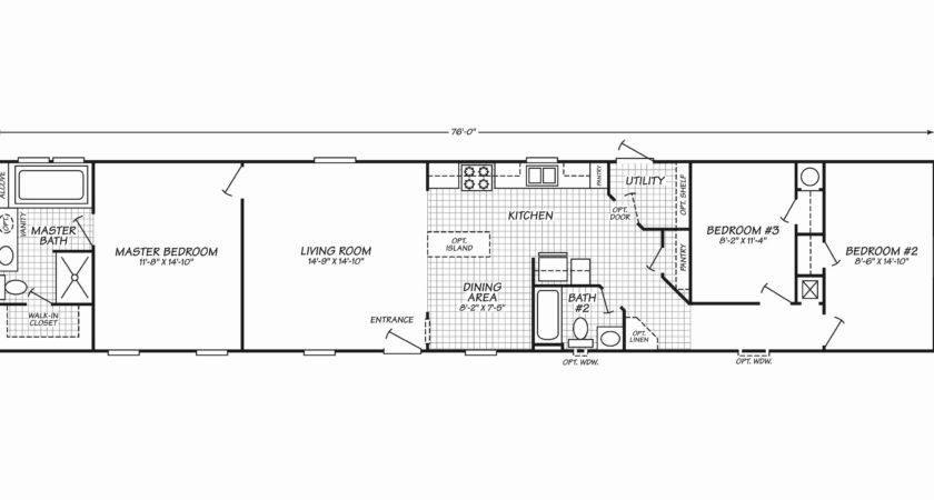 Single Wide Floor Plans Beautiful Mobile