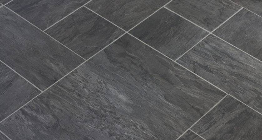 Slate Stone Texture Vinyl Floor Tiles Kent Clean