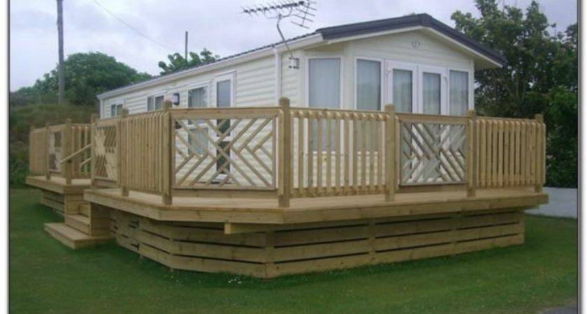 Small Deck Mobile Home Decks Decorating Ideas