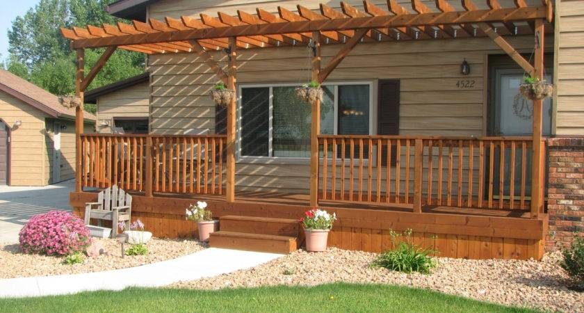 Small Front Porch Pergola Thediapercake Home Trend