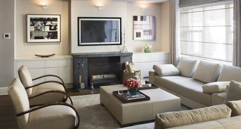 Small Living Room Design Fireplace Modern House