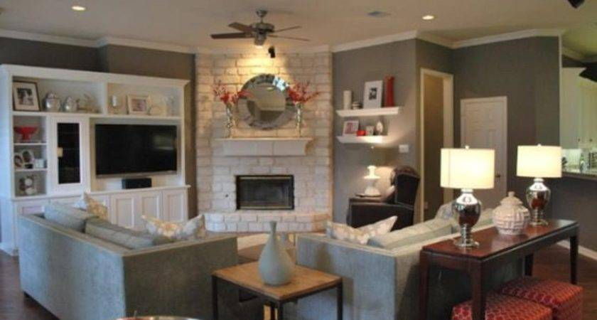 Small Living Room Fireplace Decorating Interior Design