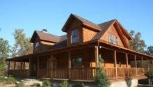 Small Log Homes Wrap Around Porch