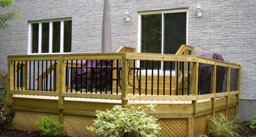 Small Patio Decks Backyard Deck Design Ideas