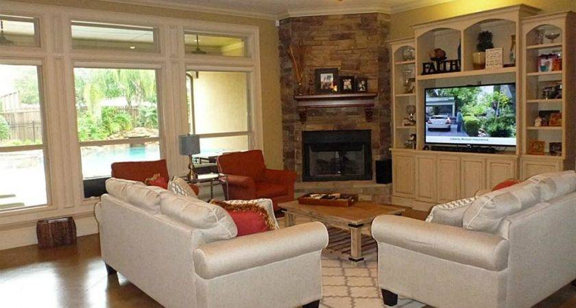 Small Room Design Living Corner Fireplace