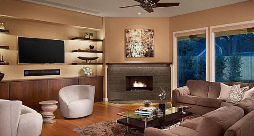 Small Room Design Living Corner Fireplace