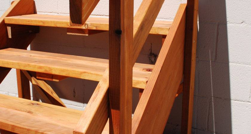 Spec Deck Standing Stairs Redwood Store