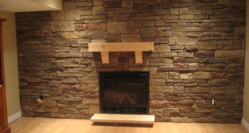 Stacked Stone Fireplace Design Remodel Decor