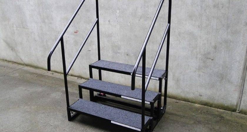 Stage Steps Modular Portable Stairs Rails