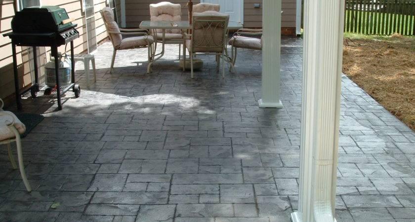 Stamped Concrete Front Porch Designs Decoto