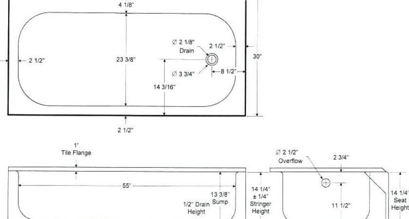 Standard Bathtub Bathroom Sizes Window