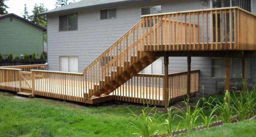Standing Elevated Deck Plans Arch Dsgn