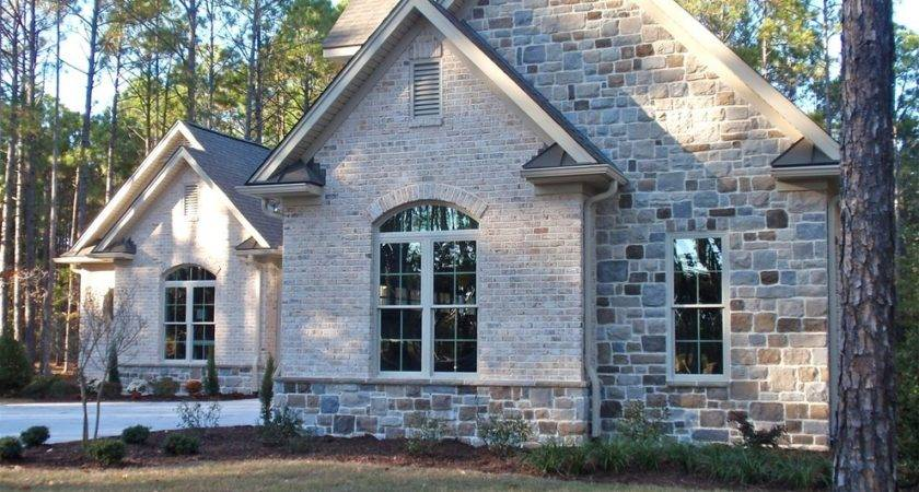 Stone Brick Combinations Exterior Traditional
