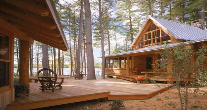 Stone Front Porch Ideas Cabin Simple Deck Designs Lake