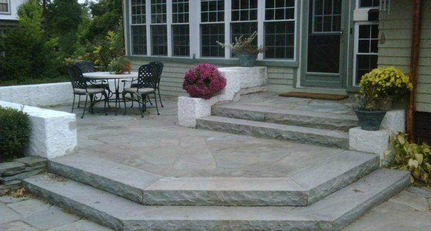 Stone Steps Design Paver Patio Ideas Modern