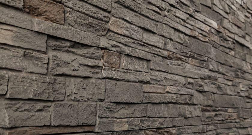 Stoneworks Faux Stone Siding Slate Smoky Ridge