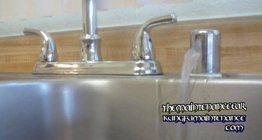 Stop Dishwasher Leaking Water Sink Counter Top