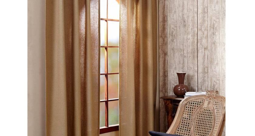 Stratton Burlap Applique Star Primitive Curtain Panels