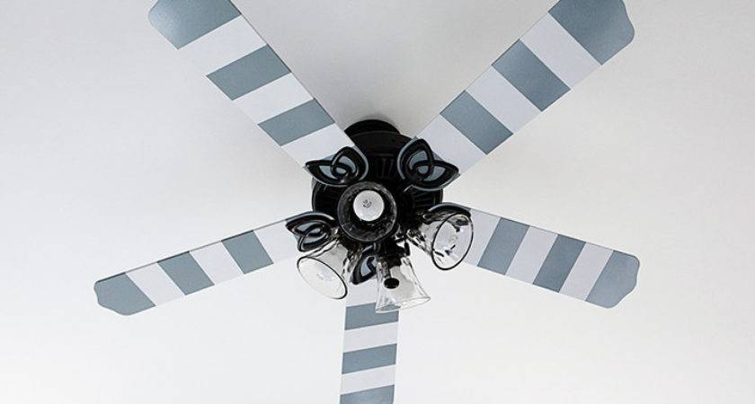 Striped Ceiling Fan Blades Project