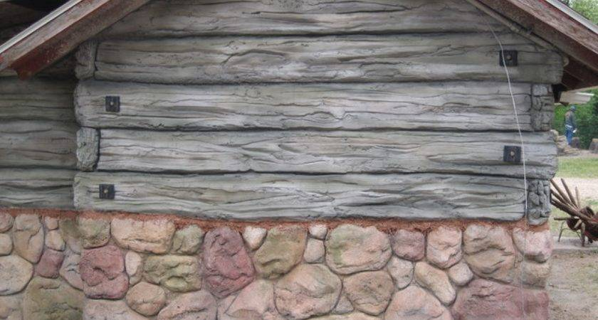 Synthetic Rock Siding Faux Exterior Wood Panels