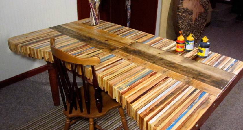 Table Made Pallets Overthinking Design