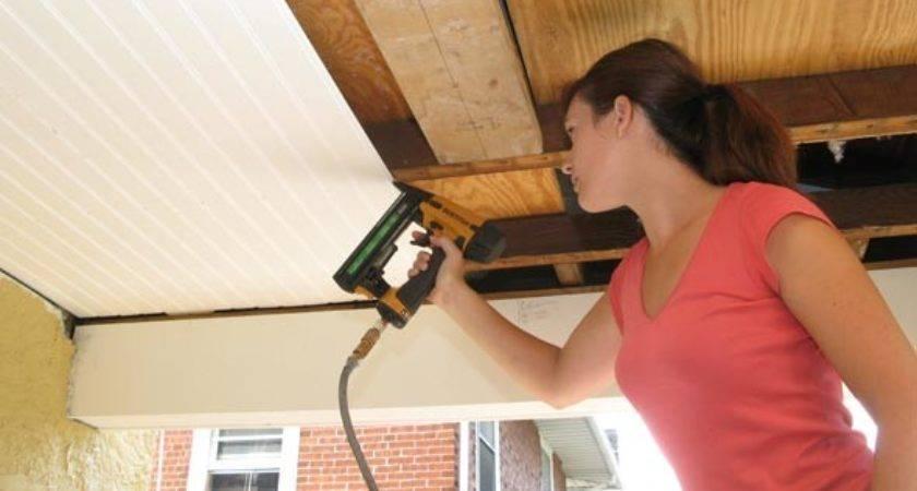Tanikaw Porch Installing Beadboard Ceiling