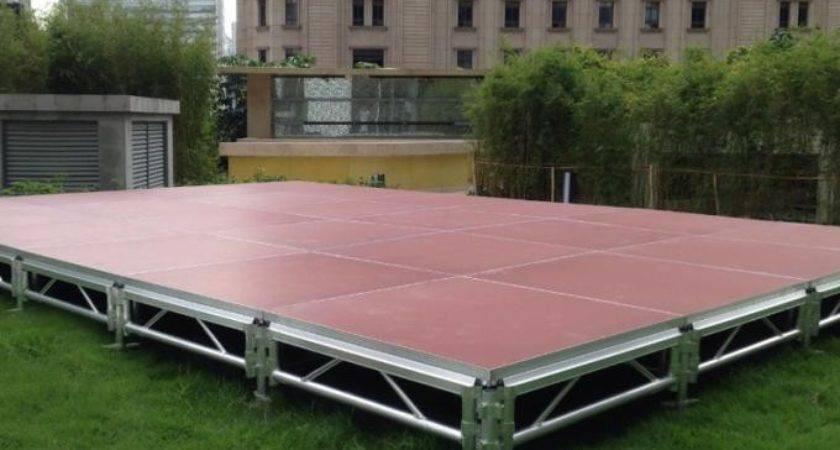 Thinckess Aluminum Acrylic Portable Stage Platforms