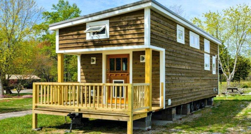 Tiny House Generous Porch Storage Integrated Trailer