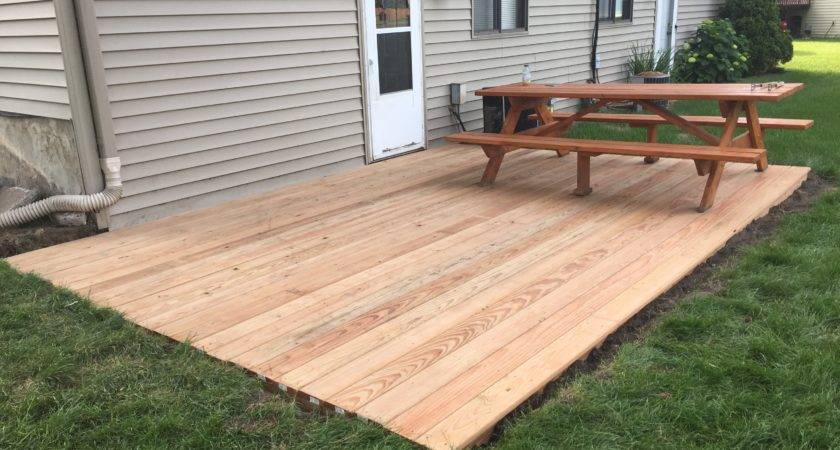 Tips Ground Level Deck Home Depot Build Stand