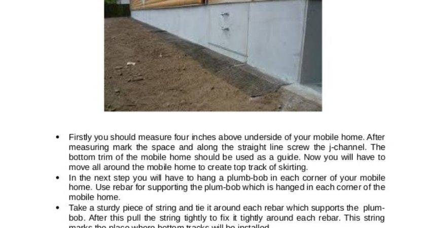 Tips Install Mobile Home Skirting Vents