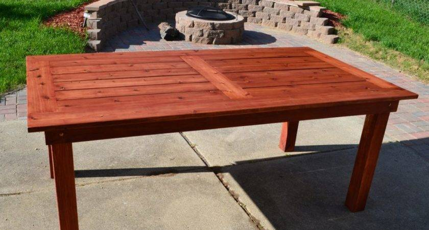 Tips Making Your Own Outdoor Furniture Patio Table