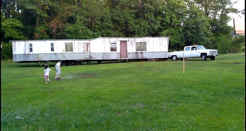 Ton Truck Moving Mobile Home Youtube