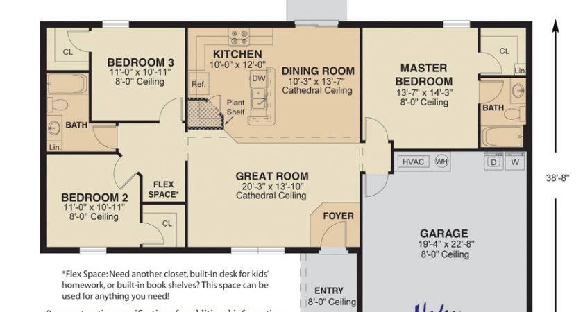Top Floor Plans Great Room Kitchen Spacious