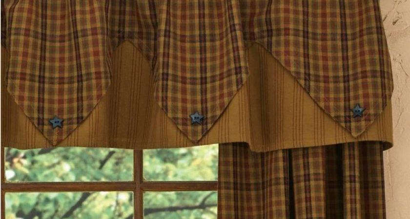 Top Risks Primitive Country Kitchen Curtains